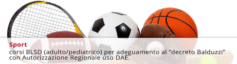 """corsi BLSD (adulto/pediatrico) per adeguamento al """"decreto Balduzzi"""" con Autorizzazione Regionale uso DAE."""